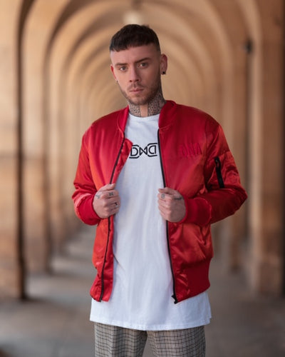 Red DNA Bomber Jacket