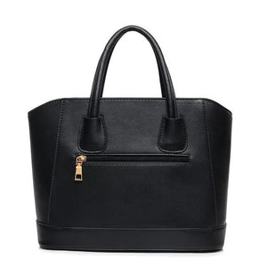 Tote Leather Zipper Handbag