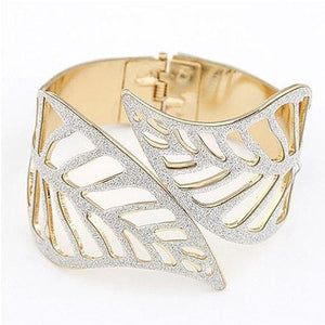Trendy Bracelet Bangle Leaf Shape