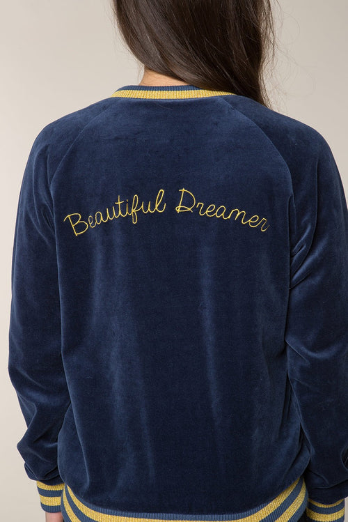 Beautiful Dreamer Velour Bomber