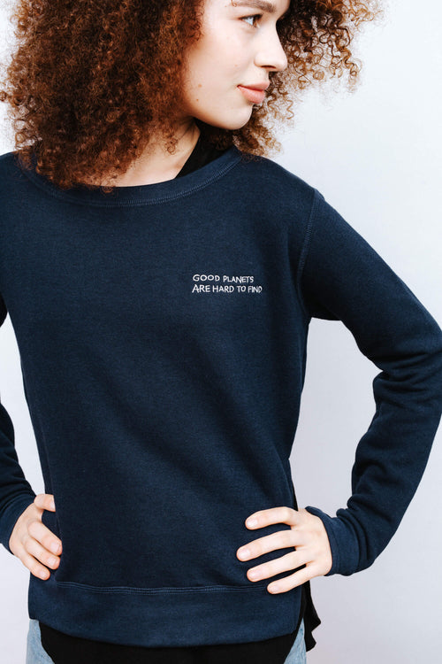 Navy Good Planet Pullover