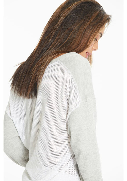 Mesh Back Scoop Sweatshirt