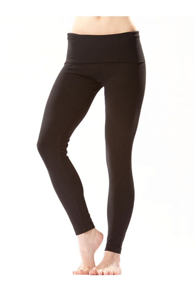 Roll Down Ankle Legging Black