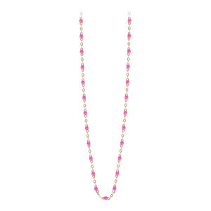 Collier Or Jaune 18K Rose Fluo