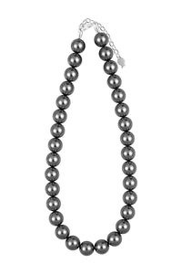 COLLIER 3G AG + SW 12MM LONG. 40CM + 5CM GRIS FONCE