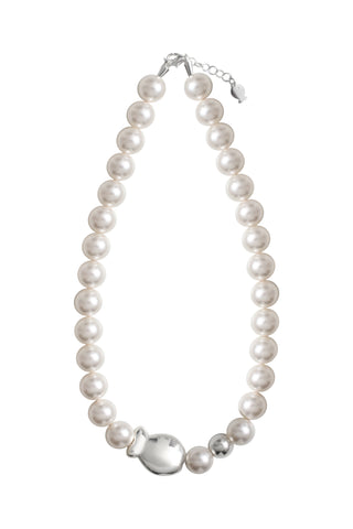 Collier Poisson et Perles Blanches