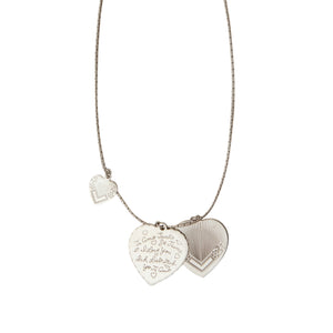 COLLIER LOVE ARGENTÉ