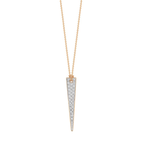 COLLIER MINI DIAMOND ARROW 18K ROSE GOLD 0.11CT