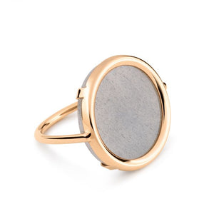 Bague Ever Moonstone Disc