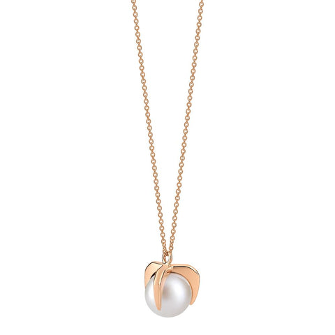 COLLIER MARIA SINGLE PEARL ON CHAIN 18K ROSE GOLD