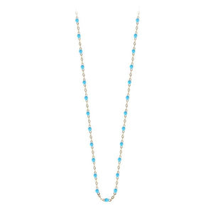 Collier Or Jaune 18K Turquoise