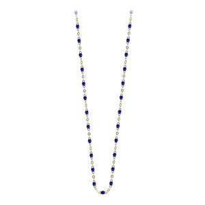Collier Or Jaune 18K  Bleu Lapis