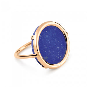 Bague Ever Lapis Disc Or Rose 18K
