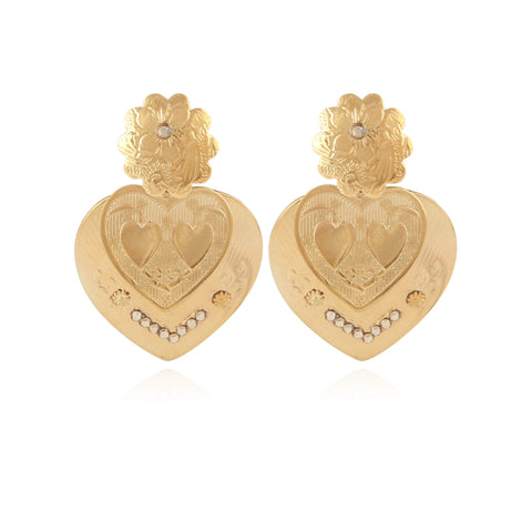 Boucles d'oreilles Love Or