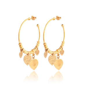Boucles d'oreille CREOLE LOVE MINI OR