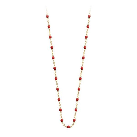 Collier Or Jaune 18K Coquelicot