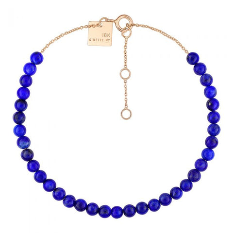BRACELET MARIA MINI LAPIS BEAD 18K ROSE GOLD