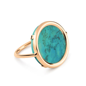 Bague Disc Turquoise
