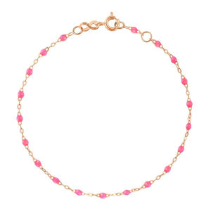 Bracelet Or Jaune 18K Rose Fluo