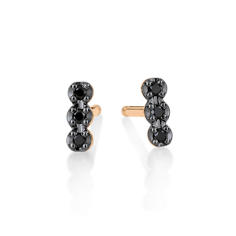 Boucles d'Oreilles Strip Diamants Noirs