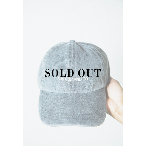Shut Up And Shop Gray Dad Hat