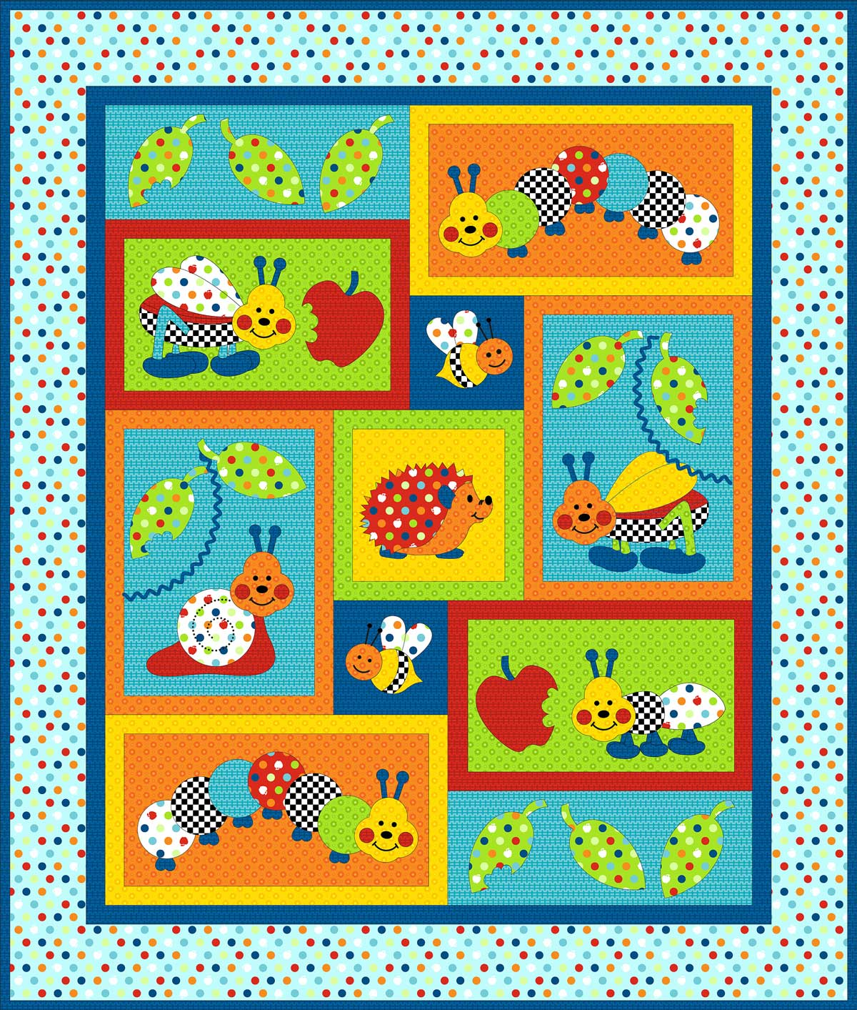 Bugs A Lot Pattern - Kids Quilts
