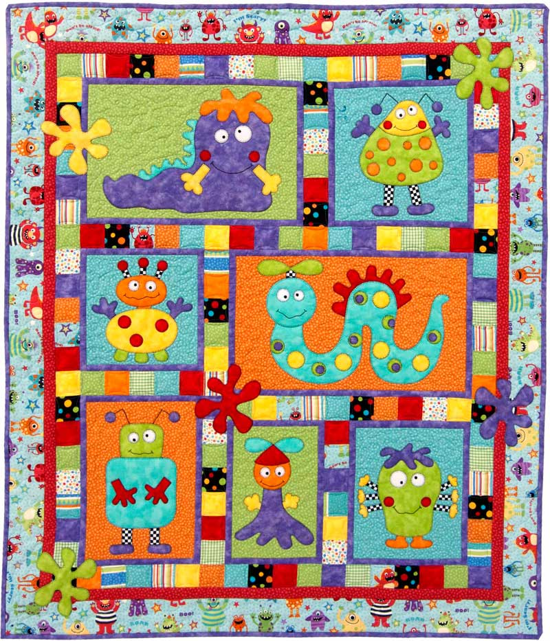 Monster Patch Kit Kids Quilts
