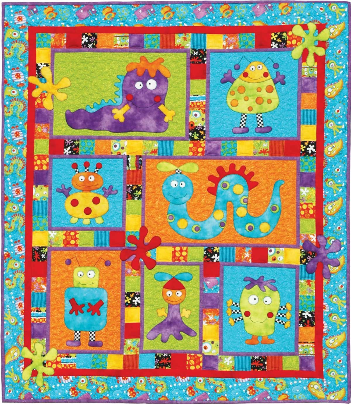Monster Patch Pattern Kids Quilts