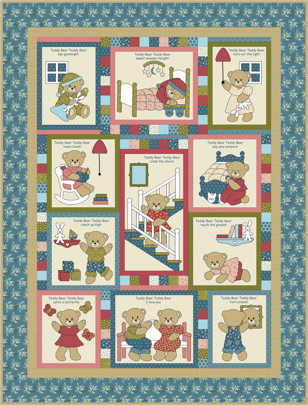 Teddy Bear Teddy Bear Pattern Kids Quilts