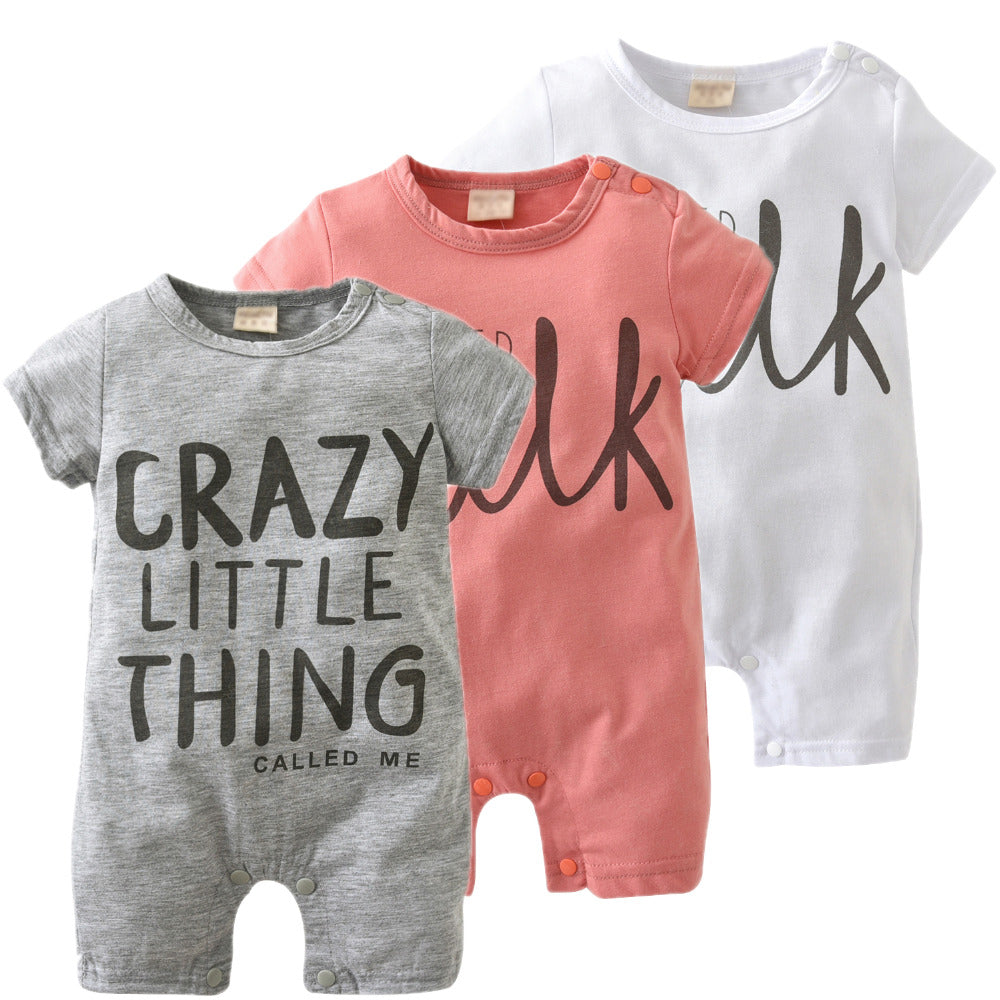 "Fashion Unisex Romper ""Milk"" ""Crazy Little Thing"""