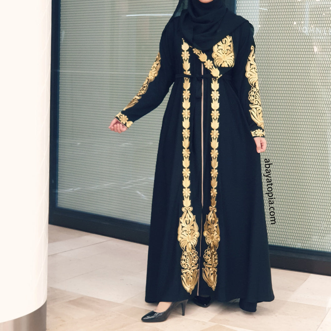 Aslihan Closed Black Abaya