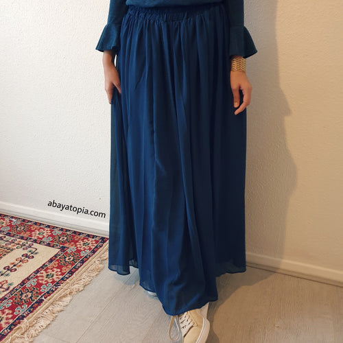 Fully Lined Chiffon Maxi Skirt