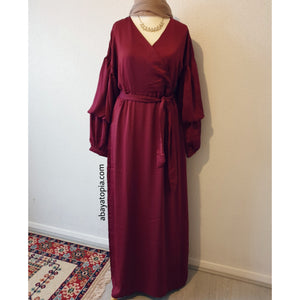 Athena Fully Lined Maxi Dress - Maroon