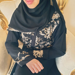 Malika Black Closed Abaya