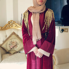 Amal Velvet Open Abaya - Diff Colours
