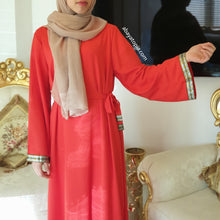 Lara Closed Abaya - Black or Red
