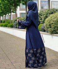 Sharjah Navy Lace Abaya Set