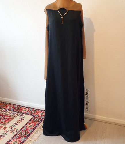 Plain Black Sleeveless Inner Dress