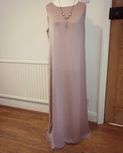 Plain Light Pink Sleeveless Inner Dress