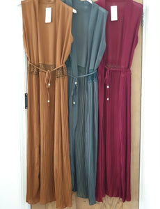 Sleeveless Pleated Kimono - Diff Colours