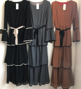 Layered Maxi Dress -Diff Colours