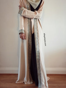 Casablanca 2-in-1 Flared Double Abaya - Full Set