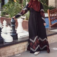 Alanya Flared Closed Abaya - Black