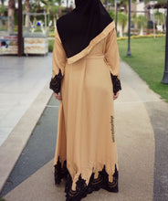 Amira Closed Flared Abaya - Sand