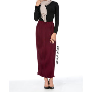 Pleated Chiffon Maxi Skirt - Diff colours