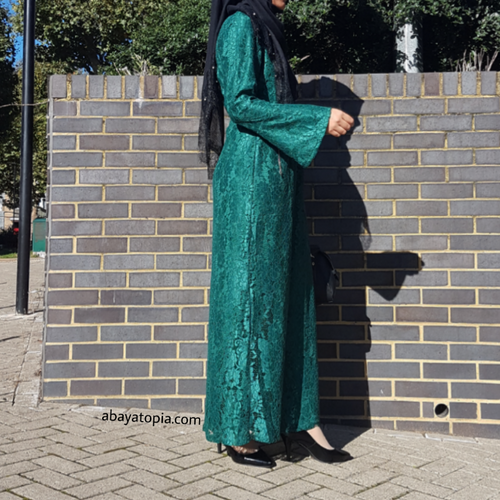 Green Lace Maxi Dress