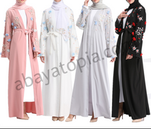 Pom-Poms and Flowers Abaya