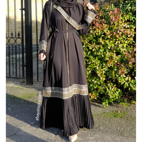 Sultana Pleated Black Abaya