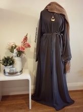 Plain and Simple Closed Abaya - Grey