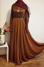 Flared Chiffon Shimmer Lined Party Dress - Diff Colours